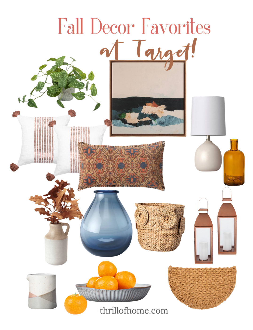 Fall Home Decor Favorites at Target - Thrill of Home